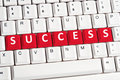 Success word on keyboard Royalty Free Stock Photo