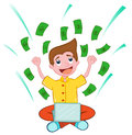Success Young Man Internet Businessman Royalty Free Stock Photo