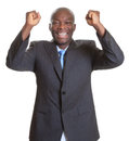 Successful african businessman in a dark suit Royalty Free Stock Photo
