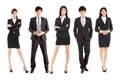 Successful asian young business team standing together full of confidence and attraction Royalty Free Stock Photography