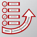 Successful business concept infographic template. Can be used for workflow layout, diagram web design, infographics.