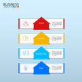 Successful business concept infographic template. Infographics with icons and elements. Can be used for workflow layout, diagram