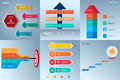 Successful business concept infographic template set. Infographics with icons and elements. Can be used for workflow layout,