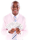 Successful business man with money Royalty Free Stock Photo