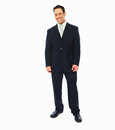 Successful business man standing over white Royalty Free Stock Image