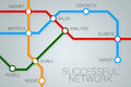 Successful business network enterprise as a subway map Stock Photography