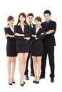 Successful business people standing together isolated Stock Photography
