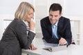 Úspešný obchod tím alebo zákazník zákazník v
