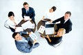 Successful business team at the office top view Royalty Free Stock Images