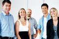 Successful business team standing together Stock Photography