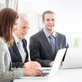 Successful business team at work Stock Photography