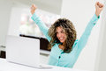 Successful business woman at the office Royalty Free Stock Photo