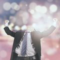 Successful businessman with bokeh background Royalty Free Stock Photo