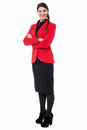 Successful businesswoman in formals stylish confident young over white Royalty Free Stock Images