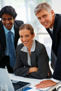 Successful group of business people at work Stock Images