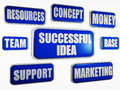 Successful idea - blue business concept Royalty Free Stock Images