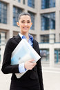 Successful smiling business woman Stock Photo