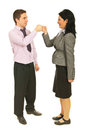 Successful teamwork fist in fist Royalty Free Stock Photo