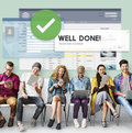 Successful well done accomplishment achievement excellence conce concept Royalty Free Stock Photography