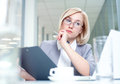 Successful woman portrait of attractive businesswoman in the workplace Stock Photography