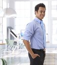 Successful young asian entrepreneur at office portrait of Stock Image