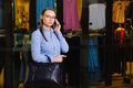 Successful Young Business woman talking on Mobile Phone, Royalty Free Stock Photo