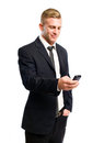 Successful young businessman on his cellphone. Royalty Free Stock Photography
