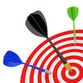 Successfully hit target d image white background Royalty Free Stock Photos