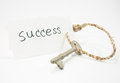 Sucess concept with a key Stock Images