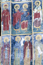 Sucevita monastery exterior paintings at sucevița is an eastern orthodox convent situated in the northeastern part of romania it Royalty Free Stock Image