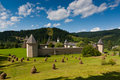 Sucevita Monastery in summer Royalty Free Stock Images