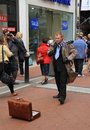 Ireland/Dublin: Businessman in a Hurry Royalty Free Stock Photo