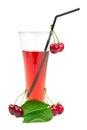 Suco da cereja Fotografia de Stock