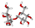 Sucrose sticks molecular model Royalty Free Stock Image