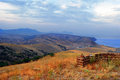 Sudak. View from Mount Kokush-kai Royalty Free Stock Photo