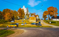 Suderve city fall time Royalty Free Stock Photo