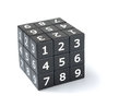 Sudoku cube puzzle numbers on a white background Royalty Free Stock Images