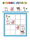 Sudoku junior game for children Royalty Free Stock Photos