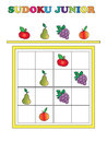 Sudoku junior game for children Royalty Free Stock Images
