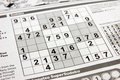 Sudoku puzzle Royalty Free Stock Images