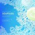 Sudsy Soap Water Realistic Background Royalty Free Stock Photo