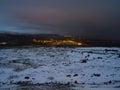 Sudurland iceland night view of Royalty Free Stock Photos