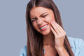 Suffering from toothache. Royalty Free Stock Photo