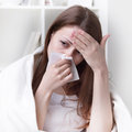 Suffers from allergies girl Royalty Free Stock Photo