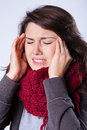 Sufrimiento para la sinusitis Imagen de archivo