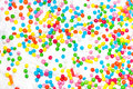 Sugar balls on sugar glaze Royalty Free Stock Photography
