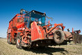 Sugar beet harvester Royalty Free Stock Image