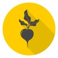 Sugar beet icon with long shadow