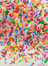 Sugar birthday sprinkles Stock Images