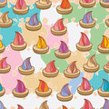 Sugar biscuit seamless pattern